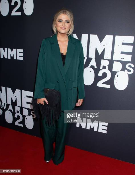 Lucy Fallon attends the NME Awards 2020 at O2 Academy Brixton on February 12 2020 in London England