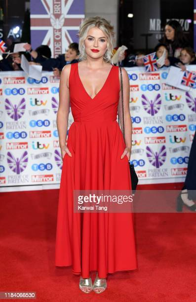 Lucy Fallon attends the Pride Of Britain Awards 2019 at The Grosvenor House Hotel on October 28 2019 in London England