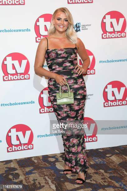 Lucy Fallon attends The TV Choice Awards 2019 at Hilton Park Lane on September 9 2019 in London England