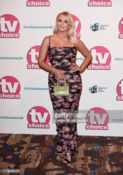 Lucy Fallon attends The TV Choice Awards 2019 at Hilton Park Lane on September 09 2019 in London England