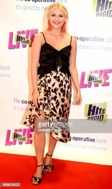 Lucy Fallon during Hits Radio Live at Manchester Arena on July 14 2018 in Manchester England