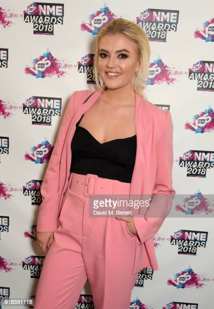 Lucy Fallon in the winners room during the VO5 NME Awards held at Brixton Academy on February 14 2018 in London England