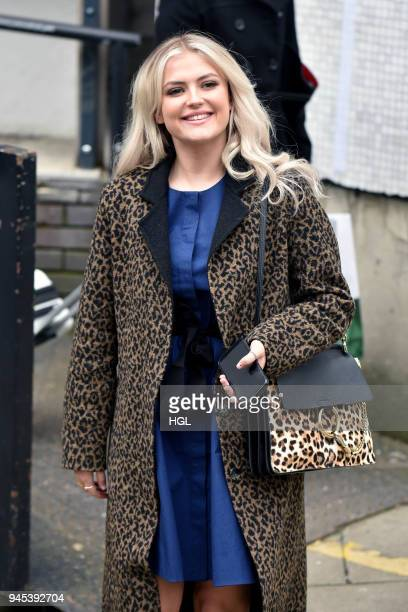 Lucy Fallon seen at the ITV Studios on April 12 2018 in London England