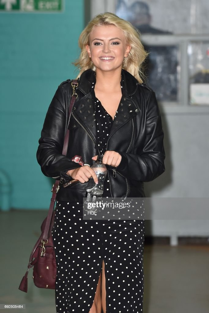 Lucy Fallon seen at the ITV Studios on June 5, 2017 in London, England.