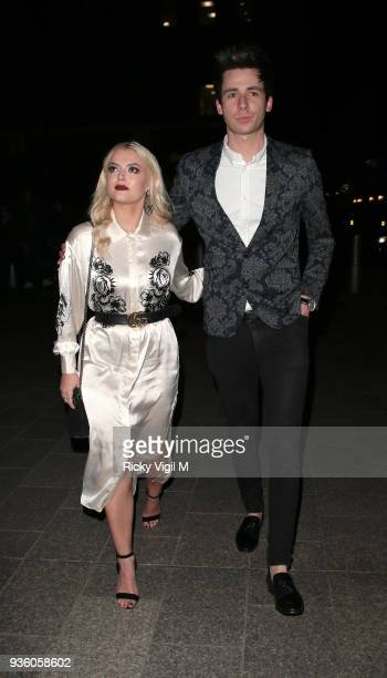 Lucy Fallon seen attending OK Magazine's 25th anniversary party at The View from the Shard on March 21 2018 in London England