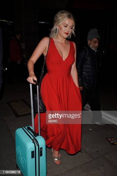 Lucy Fallon seen leaving the Pride of Britain Awards at the Grosvenor hotel in Mayfair on October 28 2019 in London England