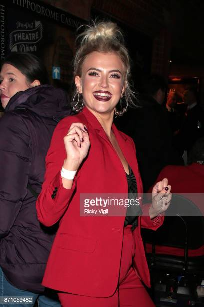 Lucy Fallon winner of the award for Best Actress attends the Inside Soap Awards held at The Hippodrome on November 6 2017 in London England