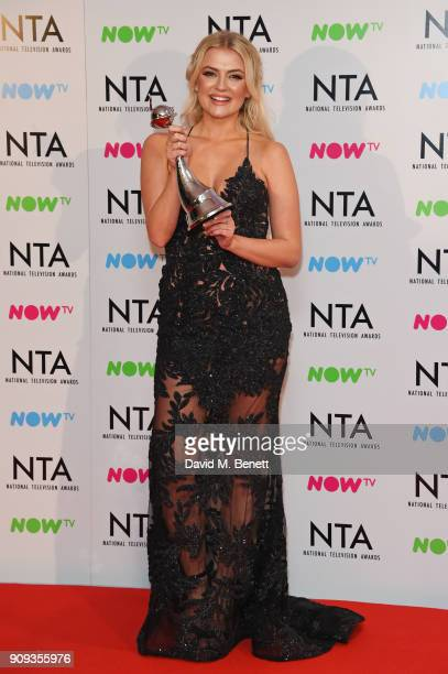 Lucy Fallon winner of the Serial Drama Performance for Coronation Street attends the National Television Awards 2018 at The O2 Arena on January 23...