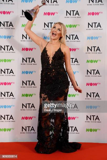 Lucy Fallon wins the award for Serial Drama Performance at the National Television Awards 2018 at The O2 Arena on January 23 2018 in London England