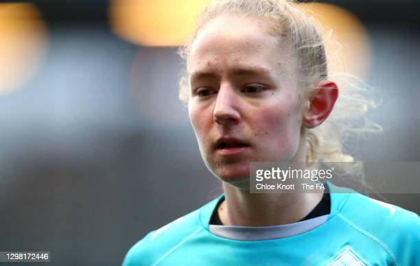 Lucy Fitzgerald of London City looks on during the Barclays FA Women's Championship match between London City Lionesses and Blackburn Ladies at...