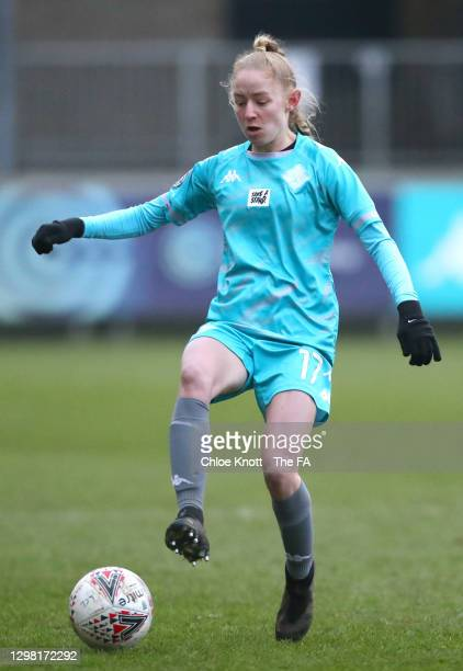 Lucy Fitzgerald of London City runs with the ball during the Barclays FA Women's Championship match between London City Lionesses and Blackburn...
