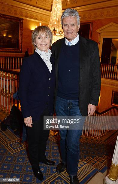 Lucy Fleming and Simon Williams attend an after party following the press night performance of Taken At Midnight at The Institute of Directors on...