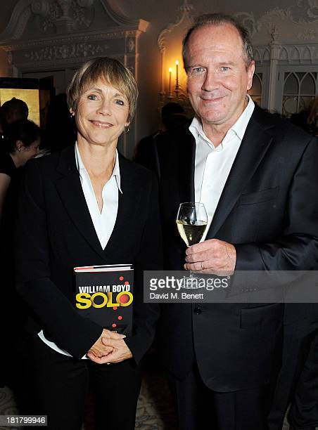 Lucy Fleming and William Boyd attend the launch of Solo the new James Bond novel written by William Boyd at The Dorchester on September 25 2013 in...