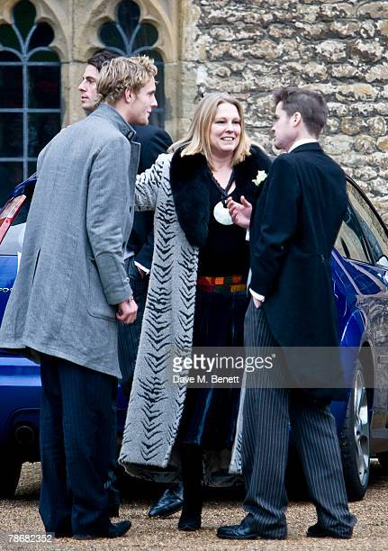 Lucy Fox attends the wedding of Billie Piper and Laurence Fox at the Parish Church of St. Mary on December 31, 2007 in Easebourne, West Sussex,...