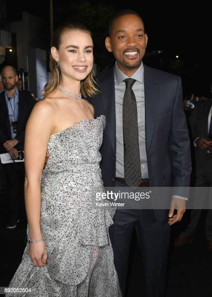 Lucy Fry and Will Smith attend the Premiere Of Netflix's 'Bright' at Regency Village Theatre on December 13 2017 in Westwood California