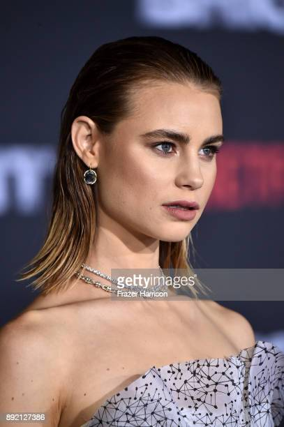 Lucy Fry arrives at the Premiere Of Netflix's 'Bright' at Regency Village Theatre on December 13 2017 in Westwood California