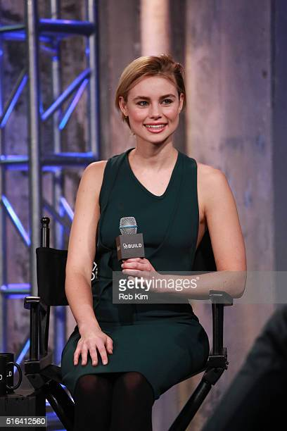 Lucy Fry attends AOL Build Speaker Series to discuss The Preppie Connection at AOL Studios In New York on March 18 2016 in New York City