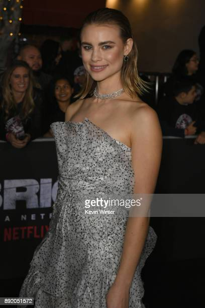 Lucy Fry attends the Premiere Of Netflix's 'Bright' at Regency Village Theatre on December 13 2017 in Westwood California