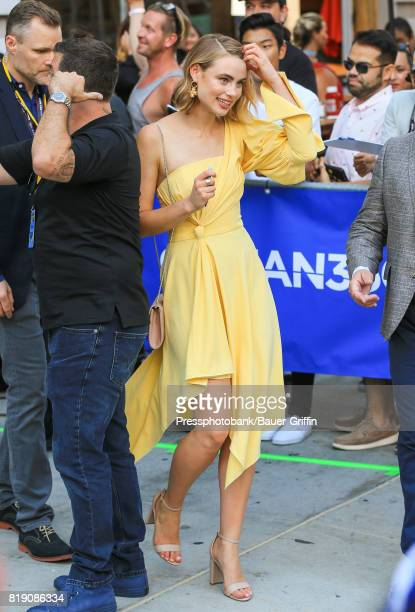 Lucy Fry is seen at 'Conan' at Comic Con on July 19 2017 in San Diego California