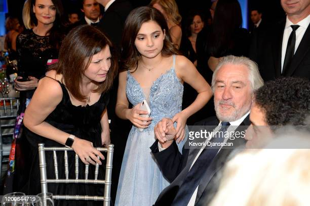 Lucy Gallina and Robert De Niro attend the 26th Annual Screen ActorsGuild Awards at The Shrine Auditorium on January 19 2020 in Los Angeles...