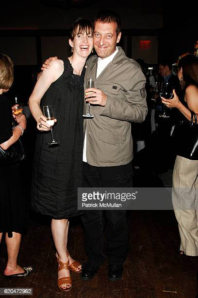 Lucy Gilmour and Tomaso Capuano attend WSJ Editorial Team Introduction Cocktail Party at AGO Restaurant @ The Greenwich Hotel on June 12 2008 in New...