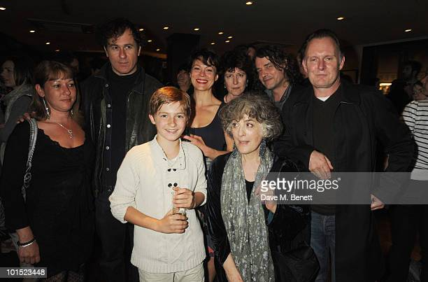 Lucy Gray Peter Sullivan Laurence Belcher Helen McCory Victoria Gray Eleanor Bron and Robert Glenister attend the press night for 'The Late Middle...