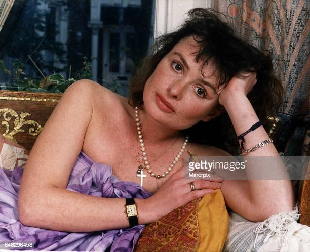 Lucy Gutteridge actress at home in London, May 1988.