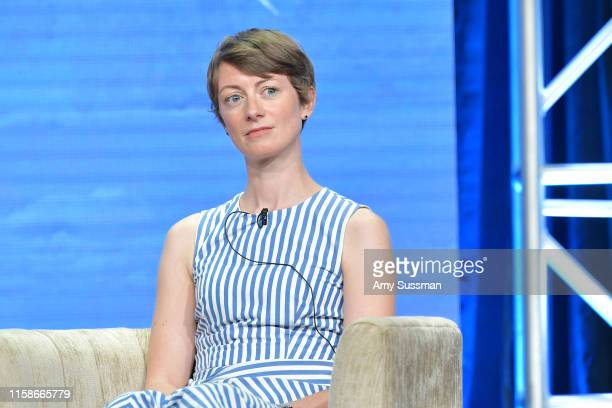 Lucy Haken of Polar Extremes speaks during the 2019 Summer TCA press tour at The Beverly Hilton Hotel on July 30 2019 in Beverly Hills California