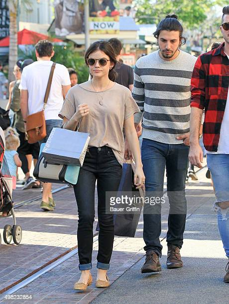 Lucy Hale and Anthony Kalabretta are seen on November 21 2015 in Los Angeles California