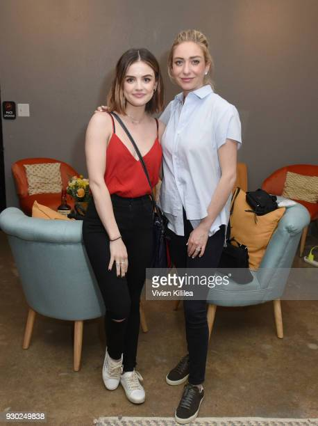 Lucy Hale and Founder and CEO of Bumble Whitney Wolfe attend Bumble Presents: Empowering Connections at Fair Market on March 10, 2018 in Austin,...