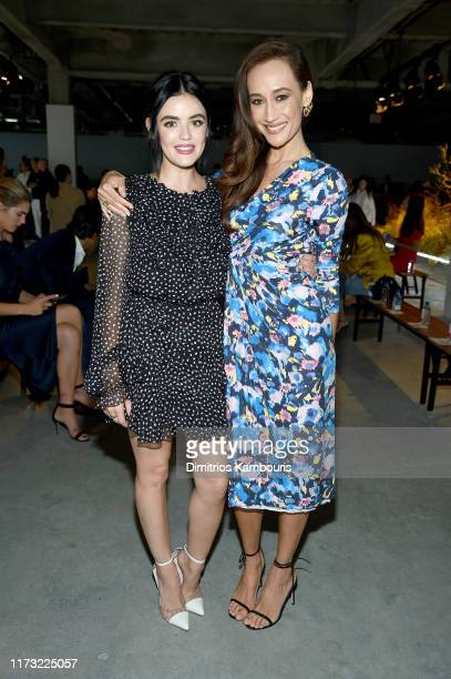 Lucy Hale and Maggie Q attend the Jason Wu Collection front row during New York Fashion Week The Shows at Pier 17 on September 08 2019 in New York...