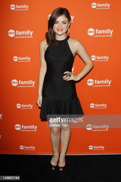 Lucy Hale arrives at ABC Family hosts the West Coast upfronts party held at The Sayers Club on May 1 2012 in Hollywood California