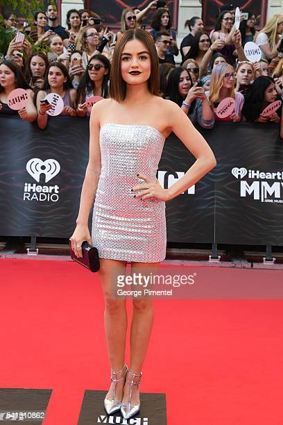 Lucy Hale arrives at the 2016 iHeartRADIO MuchMusic Video Awards at MuchMusic HQ on June 19th 2016 in Toronto Canada