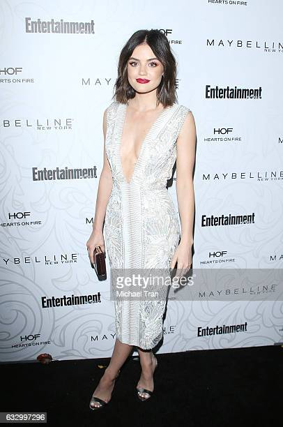 Lucy Hale arrives at the Entertainment Weekly hosts celebration honoring nominees for The Screen Actors Guild Awards held at Chateau Marmont on...