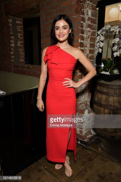 Lucy Hale attends 'Lucy Hale hosts St Jude Luncheon to kickoff Childhood Cancer Awareness Month' at Lucques on August 10 2018 in Los Angeles...