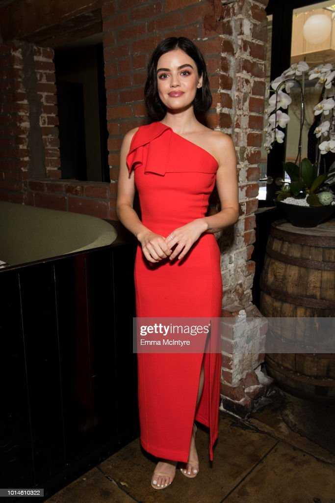 Lucy Hale attends 'Lucy Hale hosts St. Jude Luncheon to kick-off Childhood Cancer Awareness Month' at Lucques on August 10, 2018 in Los Angeles, California.