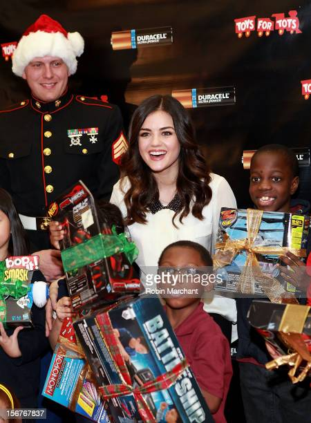 Lucy Hale attends Lucy Hale's Duracell Power Holiday Smiles Campaign Launch on November 20 2012 in New York City