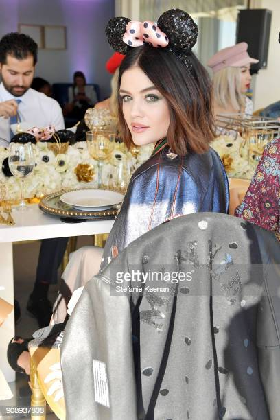 Lucy Hale attends Lunch Celebrating Minnie's Star on the Hollywood Walk of Fame and launch of Disney X Coach Collection at Chateau Marmont on January...