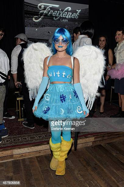 Lucy Hale attends Matthew Morrison's 5th Annual Halloween Party Presented By Freixenet at Hyde On Sunset on October 25, 2014 in Los Angeles,...