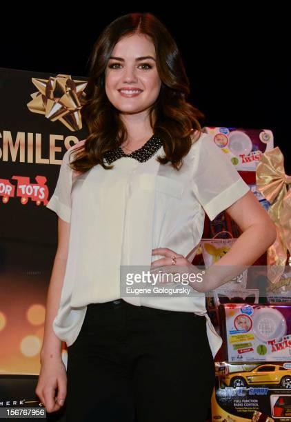 Lucy Hale attends the 2012 Duracell Power Holiday Smiles Campaign KickOff at PS 64 on November 20 2012 in New York City