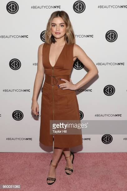 Lucy Hale attends the 2018 Beautycon NYC at The Jacob K Javits Convention Center on April 22 2018 in New York City