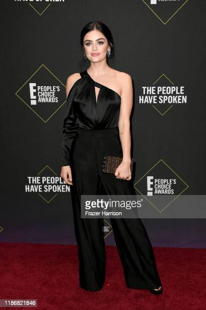 Lucy Hale attends the 2019 E People's Choice Awards at Barker Hangar on November 10 2019 in Santa Monica California