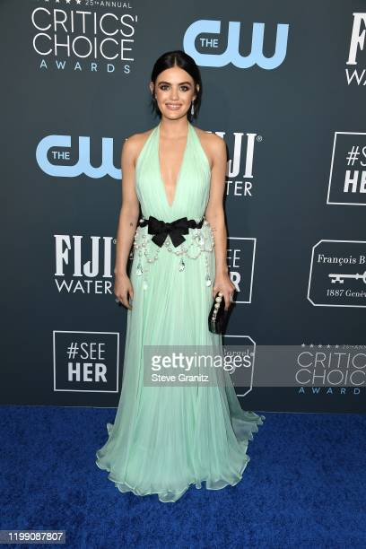 Lucy Hale attends the 25th Annual Critics' Choice Awards at Barker Hangar on January 12, 2020 in Santa Monica, California.