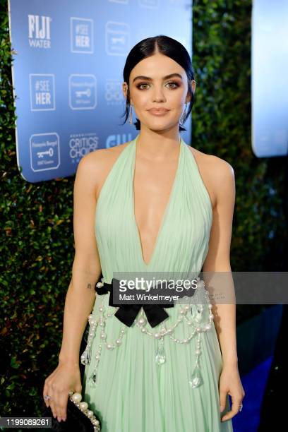 Lucy Hale attends the 25th Annual Critics' Choice Awards at Barker Hangar on January 12 2020 in Santa Monica California