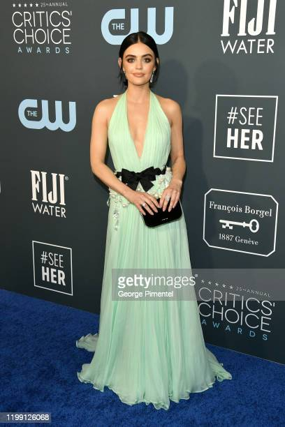 Lucy Hale attends the 25th Annual Critics' Choice Awards held at Barker Hangar on January 12 2020 in Santa Monica California