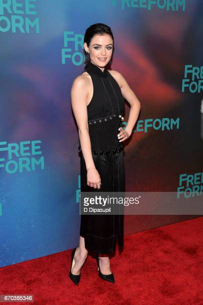 Lucy Hale attends the Freeform 2017 Upfront at Hudson Mercantile on April 19 2017 in New York City
