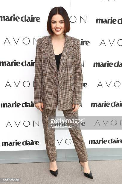 Lucy Hale attends the Lucy Hale Avon Host #BeautyBoss Luncheon With Marie Claire Magazine at The Hearst Tower on November 13 2017 in New York City