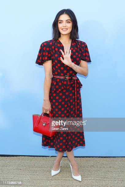 Lucy Hale attends the Michael Kors S/S 2020 Fashion Show at Duggal Greenhouse on September 11 2019 in Brooklyn New York