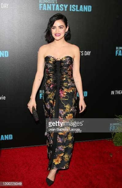 Lucy Hale attends the premiere of Columbia Pictures' Blumhouse's Fantasy Island at AMC Century City 15 on February 11 2020 in Century City California