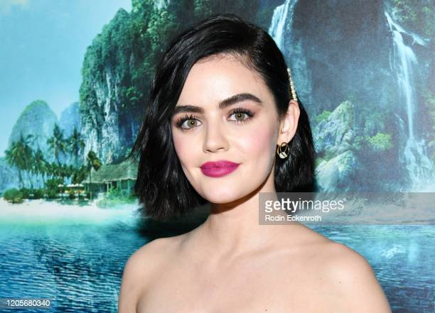 """Lucy Hale attends the Premiere Of Columbia Pictures' """"Blumhouse's Fantasy Island"""" at AMC Century City 15 on February 11, 2020 in Century City,..."""